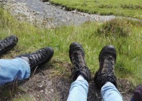 Onze wandelschoenen tijdens East HIghlands Way klein