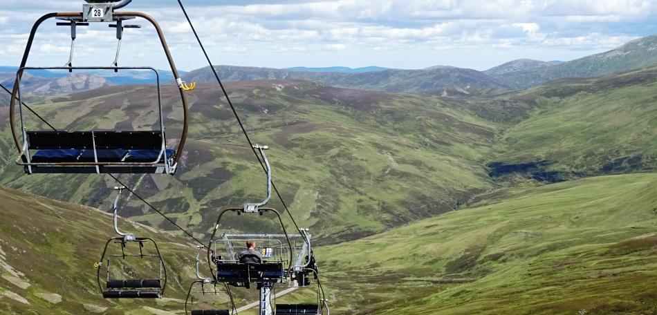 De Cairnwell lift in Glenshee